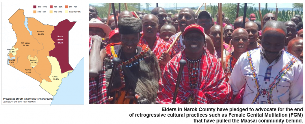 Elders in Narok County have pledged to advocate for the end of retrogressive cultural practices such as Female Genital Mutilation (FGM)